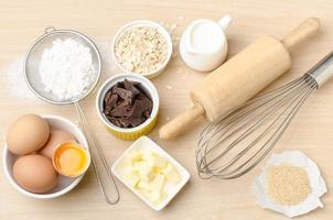 Lebensmittelzutat und Rezept für die Unterstützung foto