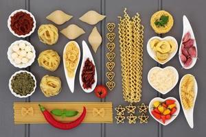 mediterrane Lebensmittelcollage foto