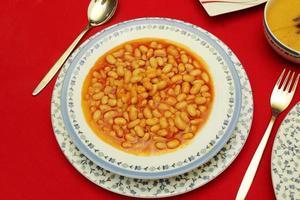 gebackene Bohnen Portion foto