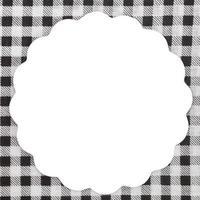 leere weiße Notiz auf Tischdecke für Rezept
