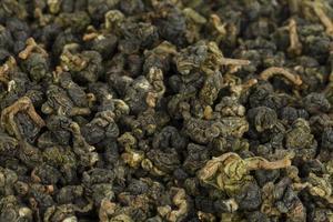 trockener grüner Tee. foto