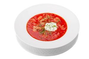 "rote Suppe ""Borschtsch"""