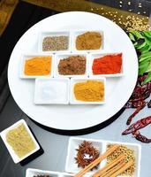 indische und kochende Gewürze foto