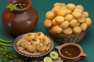Pani Puri, Golgappe, Chat-Artikel, Indien foto