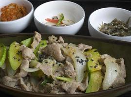 koreanisches Schweinefleisch Bulgogi foto