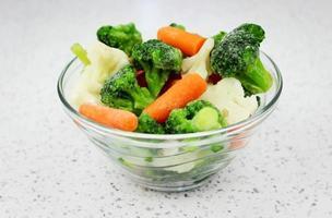 gefrorenes Gemüse foto
