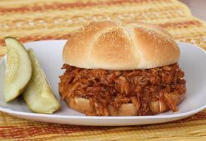 Grill Schweinefleisch Sandwich foto