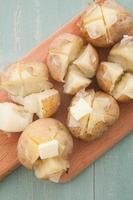 Kartoffel mit Butter foto
