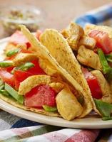 Hühnchen-Taco foto