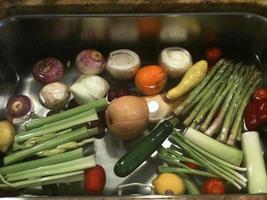 sauberes Gemüse foto