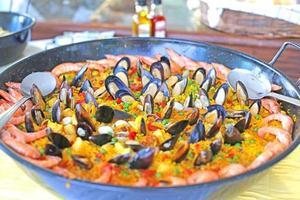 Gericht von Paella foto