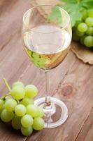 Weißwein und Trauben