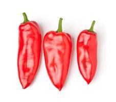 Paprika lokalisiert auf einem weißen Hintergrund foto
