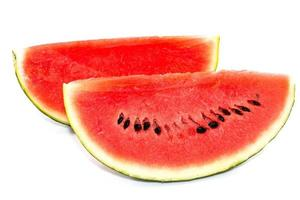 Wassermelonenrot in Scheiben schneiden foto