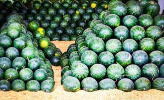 Gruppe von Wassermelonen zu verkaufen foto