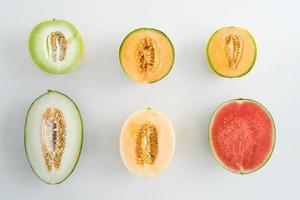 Sammlung von Melonen foto