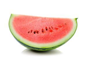 Wassermelone lokalisiert auf weißem Hintergrund foto