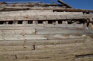 Schiffswrack in der Bretagne. foto