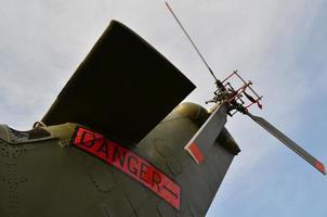 Heckrotor des Hubschraubers. foto