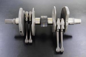 Kurbelwellenmotorradmotor foto