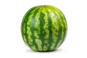 eine Nahaufnahme einer ganzen Wassermelone
