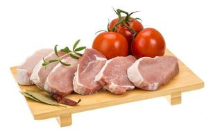 rohes Schweinesteak foto