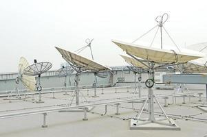 Satellitenschüssel für die Telekommunikation