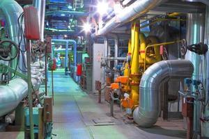 Industriezone. Fabrikausrüstung foto