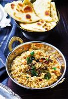 Dhal mit Kürbis. indische Küche. foto