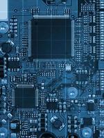 blaues Motherboard foto