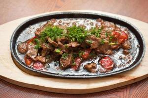 Fleisch mit Gemüse foto