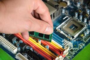 RAM-Computerspeicher installieren foto