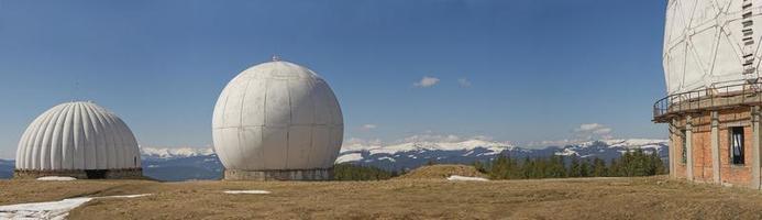 Radar im Berg foto