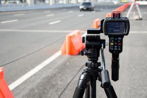 schnell fahrende Fahrer fangen foto