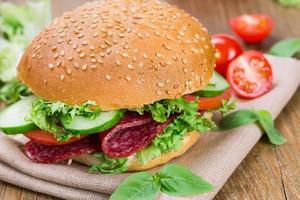 Sandwich mit Schinken foto