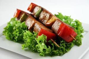 Yakitori Schweinefleisch foto