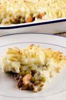 Hüttenkuchen mit Kartoffelpüree foto