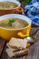 Suppe mit Bock. foto