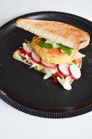 Gemüsefleischbällchen mit Zucchini. foto