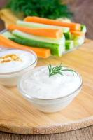 Tzatziki Joghurt Dip (Sauce) foto