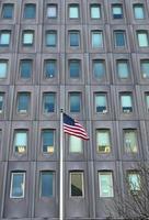 Gebäude der amerikanischen Flagge 2 foto