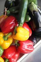 Auswahl an rohem Gemüse