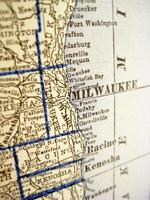 antike Karte Wisconsin foto