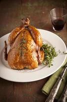 Gegrillter Truthahn und Gemüse zu Weihnachten und danke Tag geben