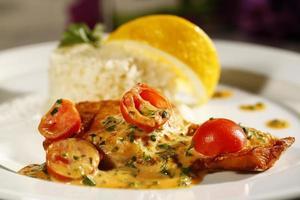 leckeres Gourmet-Essen im Restaurant foto