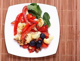 Gegrilltes Gemüse vegetarisch foto