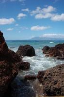 Lavasteine in Maui foto