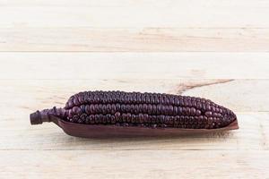 frischer lila Bio-Mais, Mais. foto
