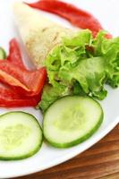 Pfannkuchen mit Gemüse foto