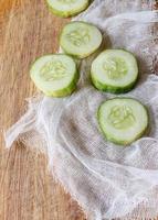 Gurke in Scheiben geschnitten